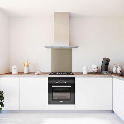 Glasplaat keuken kleur metallic-rvs-hoogglans