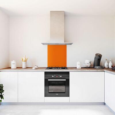 Glasplaat keuken kleur trend-tangerine-hoogglans
