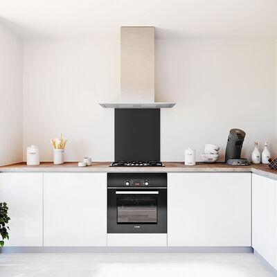 Glasplaat keuken kleur zwart-mat