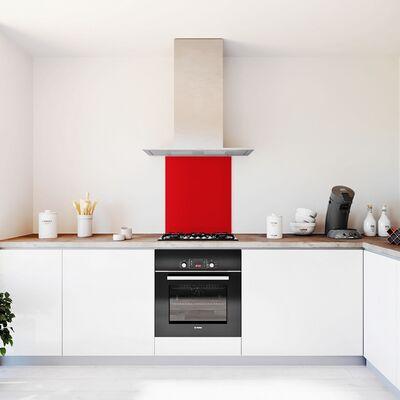 Glasplaat keuken rood-hoogglans-600x700