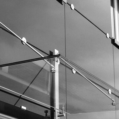 Glazen luifel maatwerk tot 2.000x3.300mm