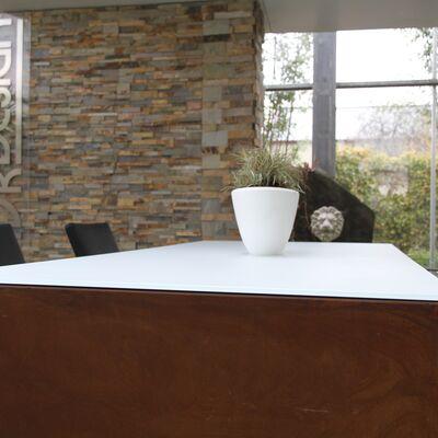 Glazen tafelblad wit mat