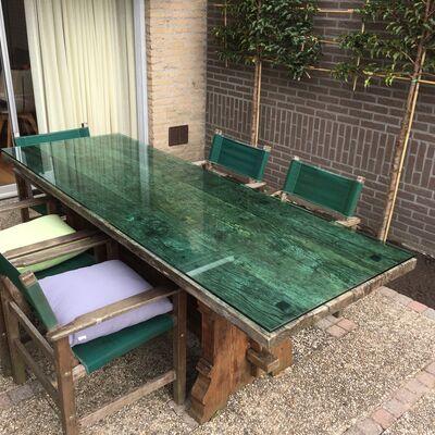 Groen tafelblad