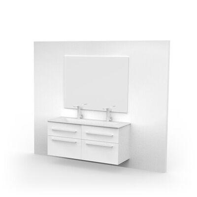 Vierkante spiegel zilver