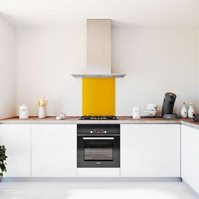 Glasplaat keuken kleur -trend-okergeel-hoogglans