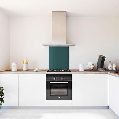 Glasplaat keuken kleur 600x700dennengroen-mat
