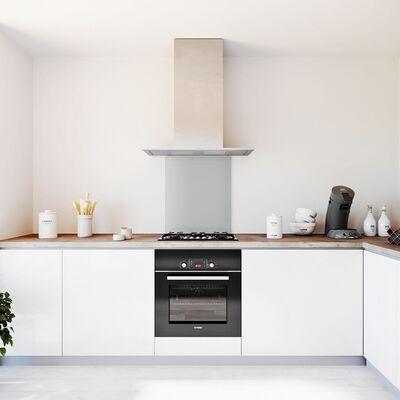 Glasplaat keuken kleur basic-lichtgrijs-hoogglans