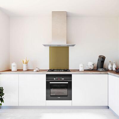 Glasplaat keuken kleur metallic-brons-hoogglans