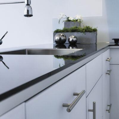 Glazen keukenwerkblad Basic Zwart hoogglans