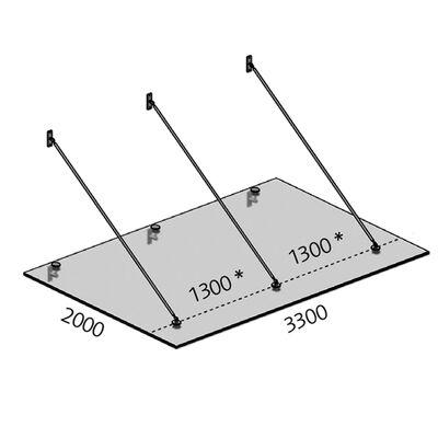 Glazen luifel maatwerk tot 1.100x2.400mm