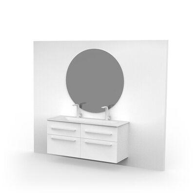 Ronde spiegel grijs