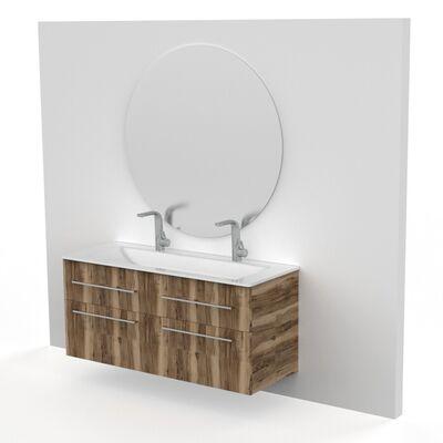 Spiegel rond zilver.1098