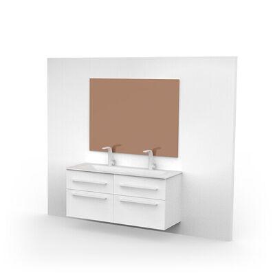 Vierkante spiegel brons