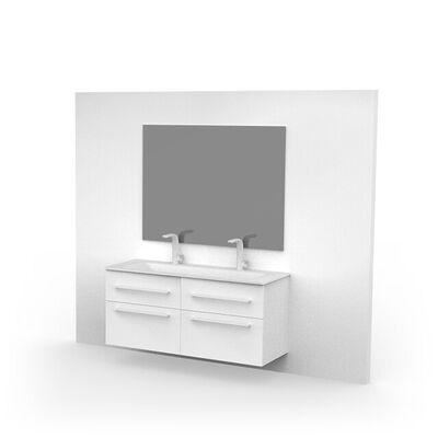 Vierkante spiegel grijs