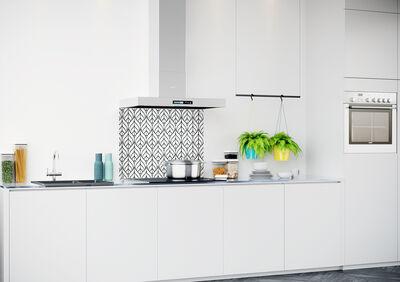 Achterwand keuken met patroon 900x700