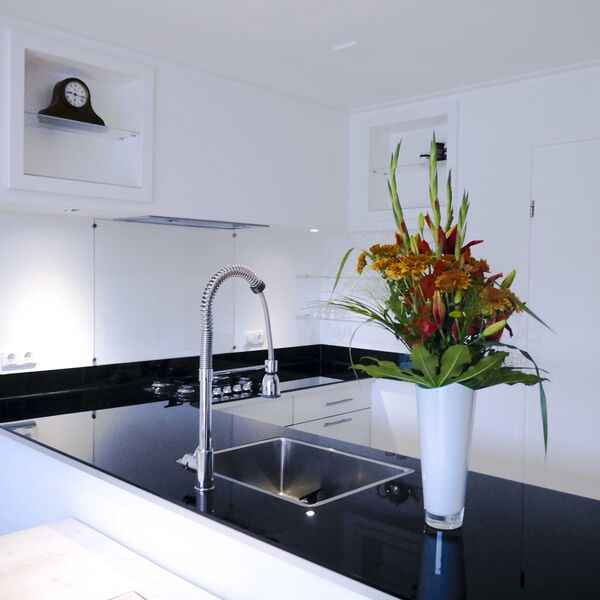 Achterwand keuken helder glas