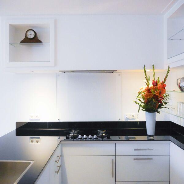 Achterwand keuken transparant glas