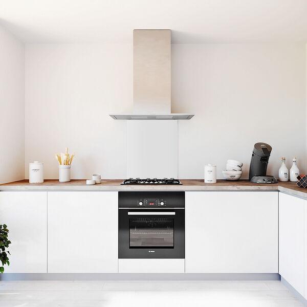Glasplaat keuken kleur -lichtgrijs-mat