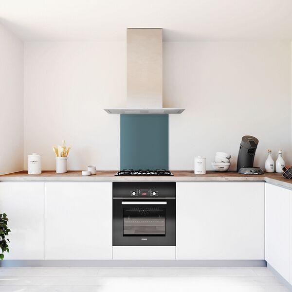 Glasplaat keuken kleur -trend-jeans-mat