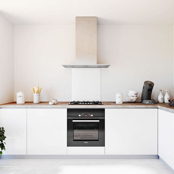 Glasplaat keuken kleur -wit-mat