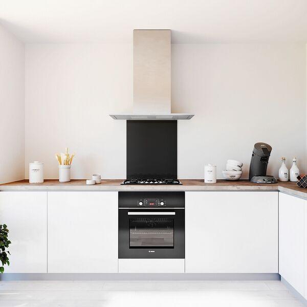 Glasplaat keuken kleur basic-antraciet-hoogglans