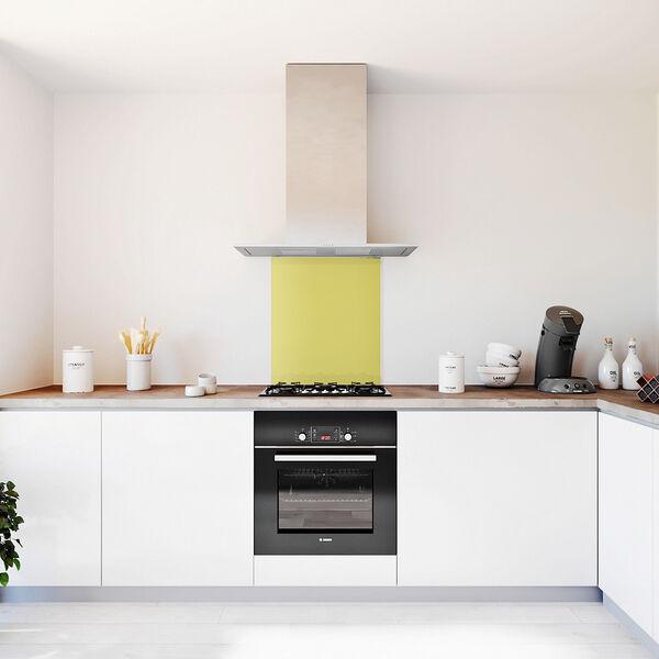 Glasplaat keuken kleur lemon-mat