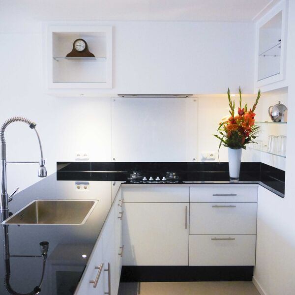 glasplaat keuken transparant glas