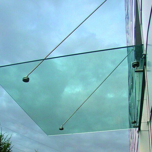 Glazen luifel Niels Maatwerk tot 1.100x1.600mm