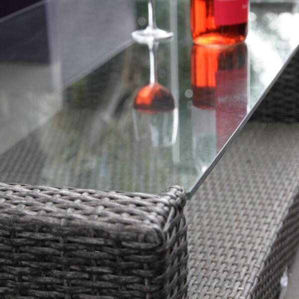 Glazen tafelblad blank