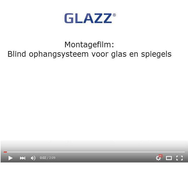 Montagefilm blind ophangsysteem glas en spiegels