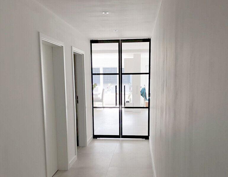 Glazen ensuite deuren
