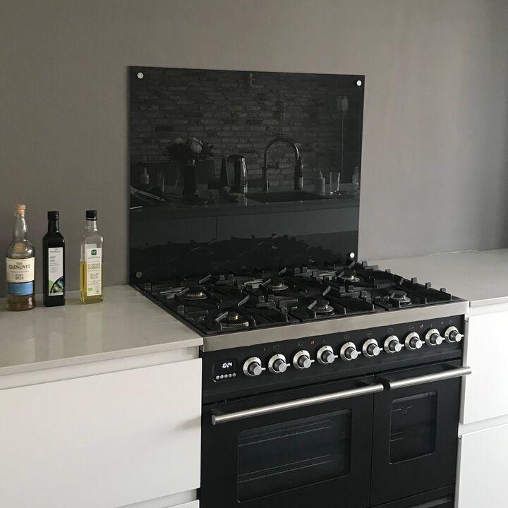 Glasplaat keuken zwart