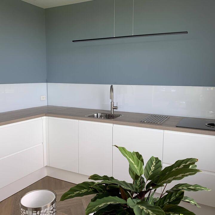 Glazen keukenachterwand basic wit hoogglans