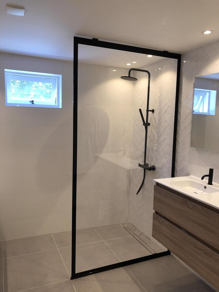industriële douchewand tot het plafond (2)